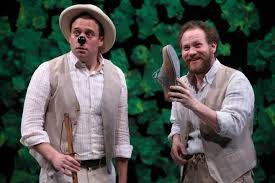 Andy Groteleuschen as Launce and Zachary Fine as Crab  (Photo NY Post)